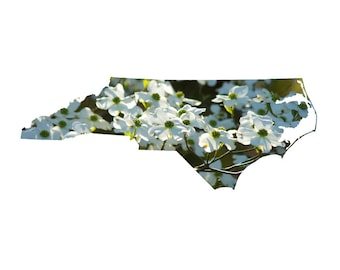 NC Shape - Dogwood Blossoms