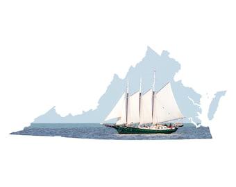 VA Shape - Yorktown Sailboat