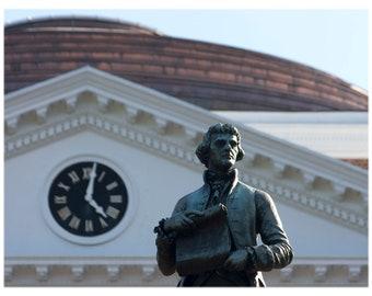 UVA Rotunda and Jefferson Statue