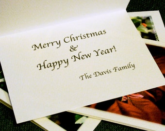 Custom Printing Add-On for Holiday Card Sets