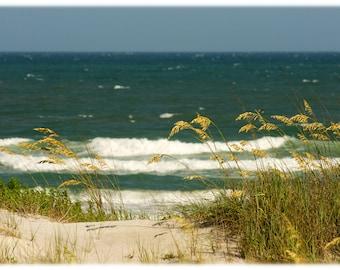 Topsail Island Dunes, North Carolina Photography - Coastal, Beach Home Decor Fine Art Print or Note Cards