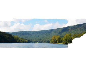 TN Map Art - Tennessee River