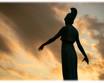 UNCG Minerva at Sunset