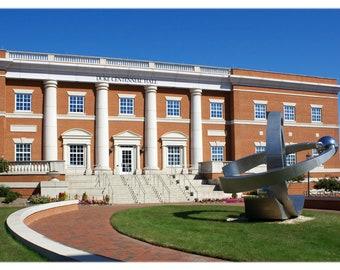 UNCC Duke Centennial Hall and Orbis Sculpture