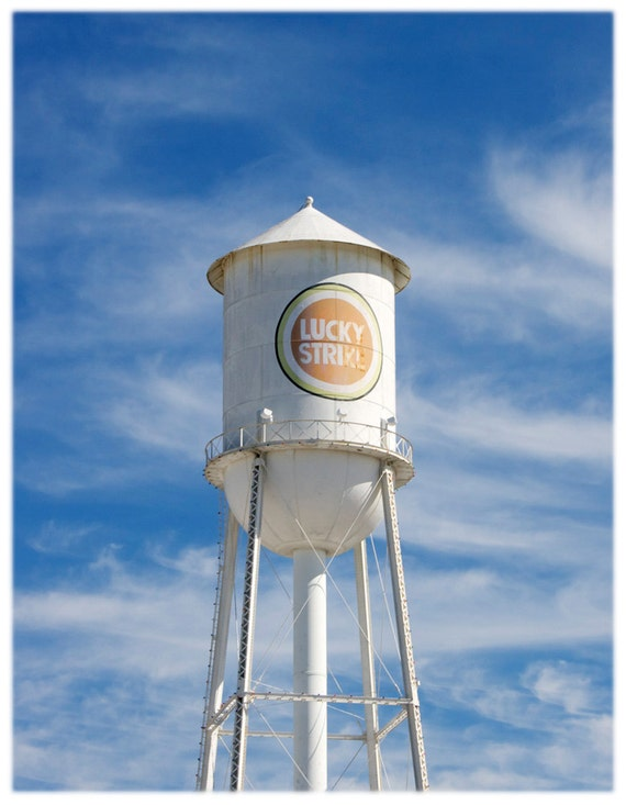 Downtown Durham Lucky Strike Water Tower North Carolina Etsy