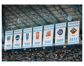 UNC Chapel Hill National Championship Banners