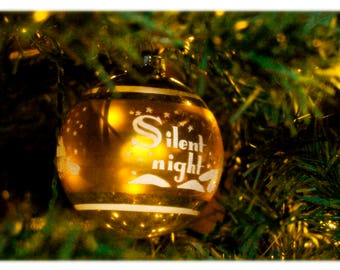 Silent Night Vintage Ornament Christmas Cards