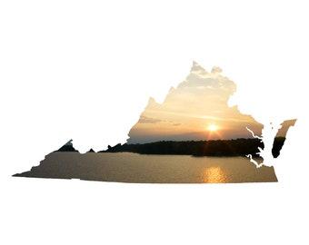 VA Shape - Chickahominy River Sunset