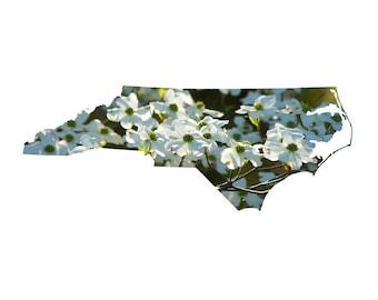 NC Shape - Dogwood Blossoms