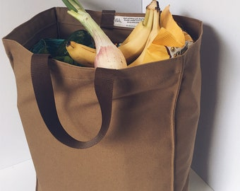 aec89f70b0d Brown washable grocery totes