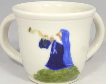 Blowing the Shofar Washing Cup Netilah