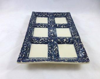 Dark Blue Variegated Seder Plate