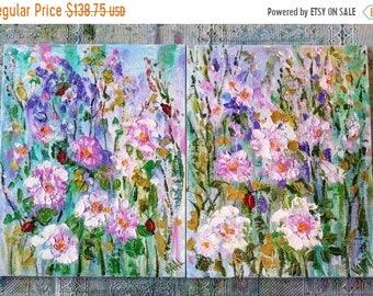 Fall sale original painting, original painting on canvas,  textured oil painting , painting on canvas,  floral painting  on canvas , pink pa