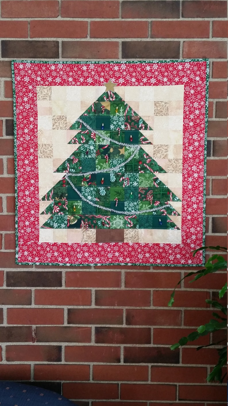 Christmas Tree Quilted Wall Hanging On Sale Festive Etsy