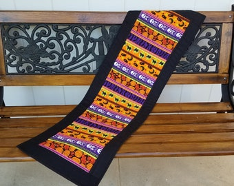 Halloween Quilted Table Runner, Trick or Treat Table Runner, Halloween Table Decor