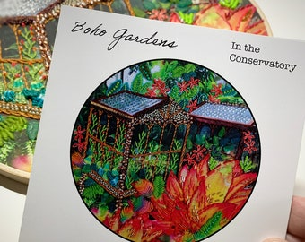 Boho Gardens: In the Conservatory a wildboho embroidery project