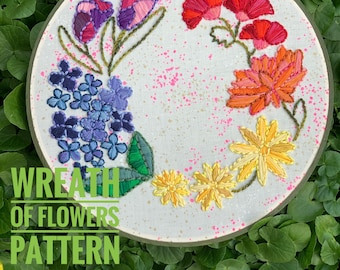 Wreath of Flowers Pattern