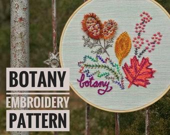 Botany a wildboho Embroidery Pattern