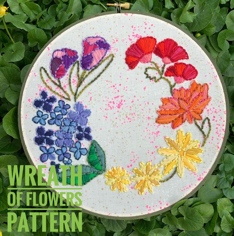 Wreath of Flowers Pattern image 0