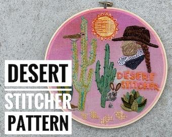 Desert Stitcher a wildboho Embroidery Pattern