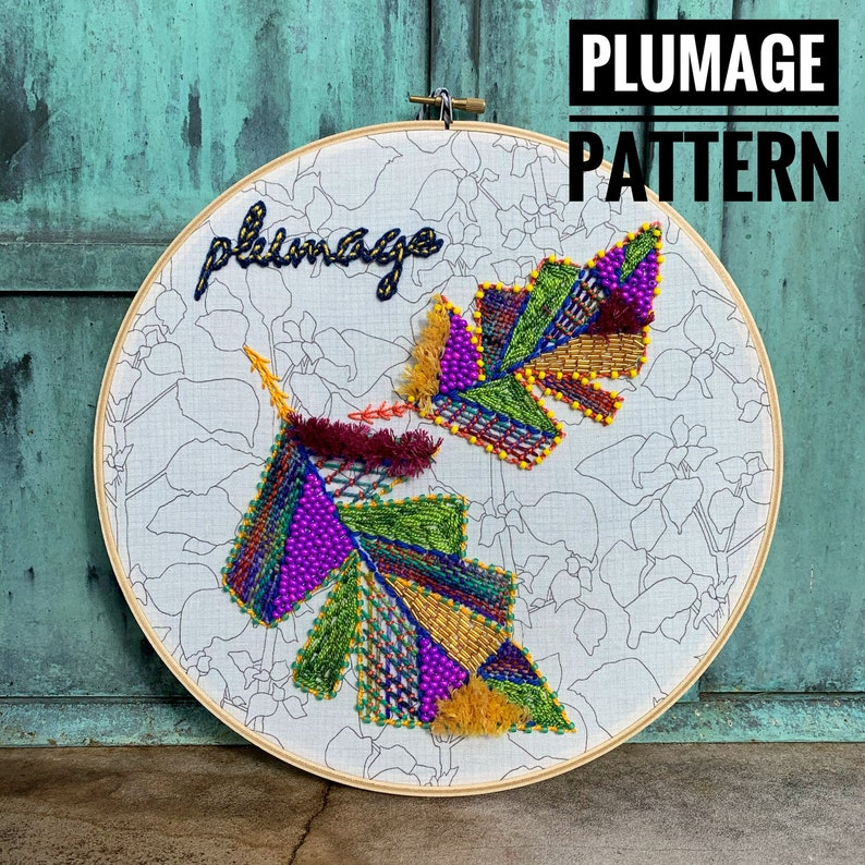 Plumage a wildboho Embroidery Pattern image 0