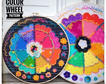 Ruffled Color Wheel a wildboho Appliqué & Embroidery Pattern