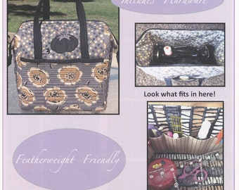The Boxy Tote Sewing Pattern Fits Singer Featherweight Sewing Machine: 14 Inches x 11 inches x 12 Inches, Includes Two Metal Stays