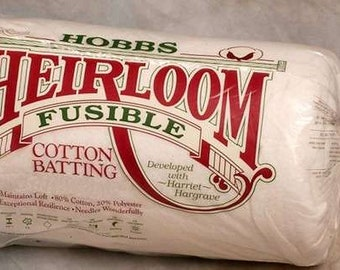 "Hobbs Heirloom 80/20 Fusible Cotton Batting Crib 45"" X 60"""