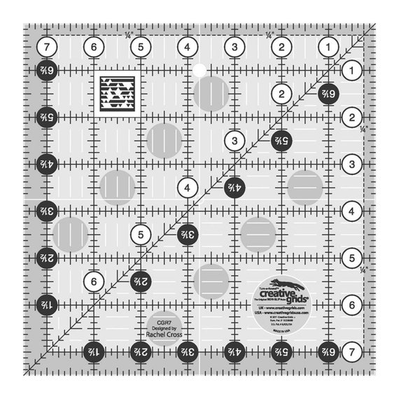 """Creative Grids 8 1//2/"""" Square Ruler Sewing and Quilting Ruler"""