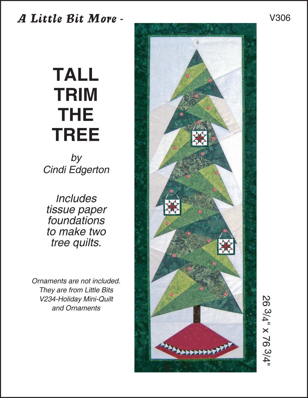 Little Bit More Tall Trim The Tree Quilt Pattern | Etsy