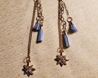 Dangling Golden Star Earrings