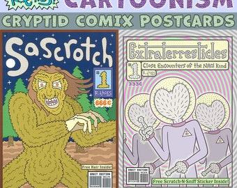 Cryptid Comix Postcard Pair