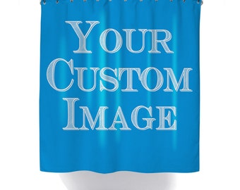 Custom Shower Curtain Personalized Image Backdrop Photograph Printed In USA