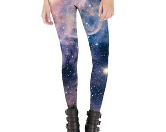 2d6244b812dbb Quirky Unusual Leggings, Space Leggings Women, Galaxy Print Leggings, Stars  Planets Leggings, Carina Nebula Leggings, Full Length, USA