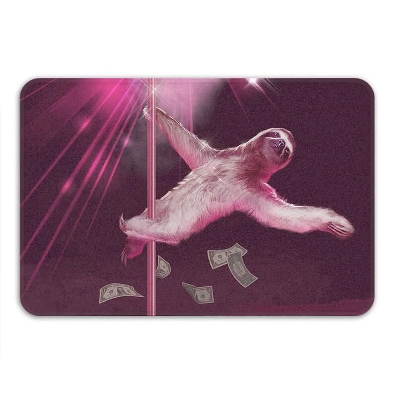 a9eb2007 Stripper Sloth Bath Mat, Sexy Shower Mat, Pole Dance Mat, Memory Foam Bath  Mat, Funny Bathroom Rug, Funny Shower Mats, Non Slip Bath Mat