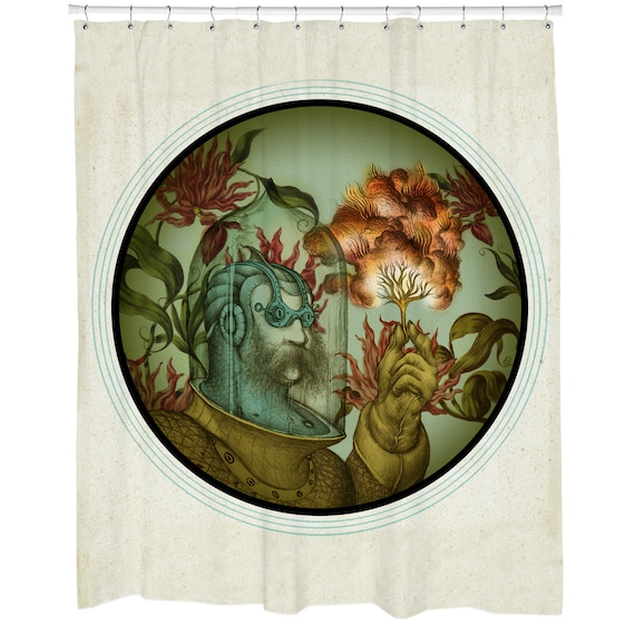 Steampunk Shower Curtain Bathroom Decor