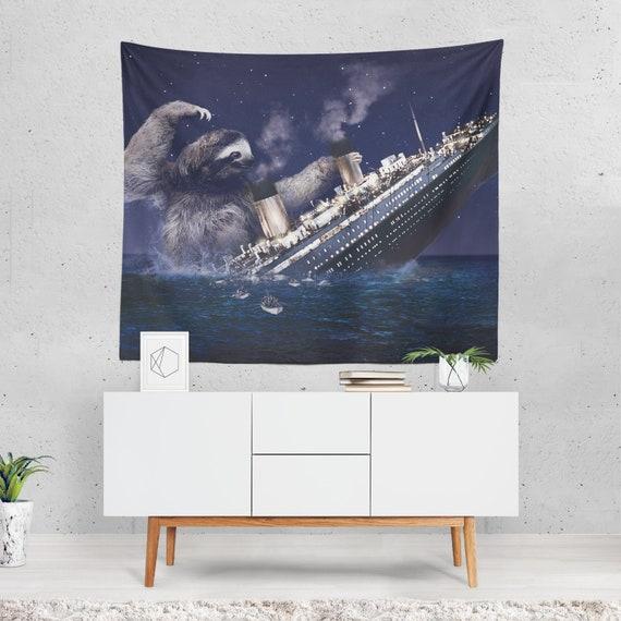 Sloth Tapestry Titanic Wall Sheet Sloth Home Decor Funny | Etsy