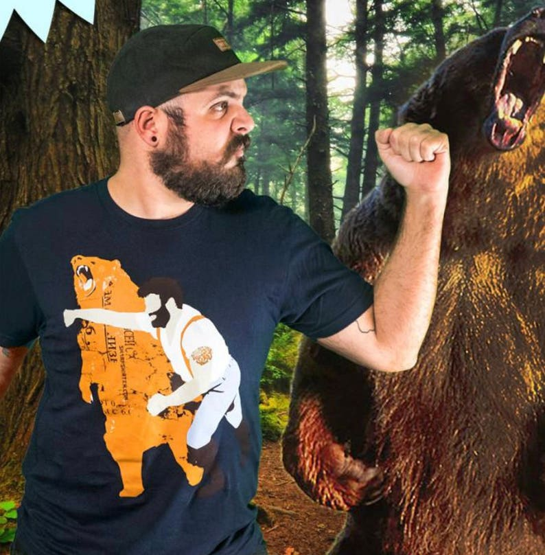 c7ebaf2149a Cool T-shirt Graphic Tee Funny Shirt Gift for Him Bear