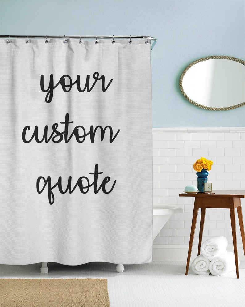 Custom Shower Curtain Text Personalized