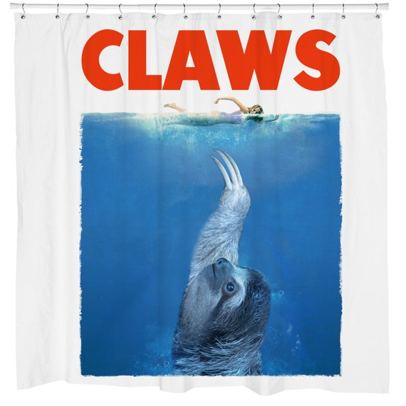 Sloth Shower Curtain Funny Jaws