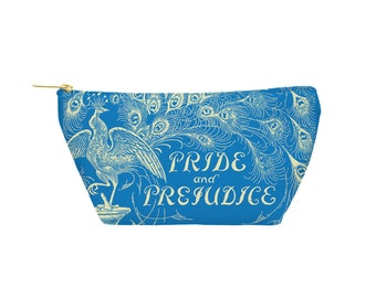 Pride & Prejudice Pouch - Accessory Bag, Cosmetic Case, Makeup Bag, Toiletry Bag, Pencil Pouch - Printed in USA