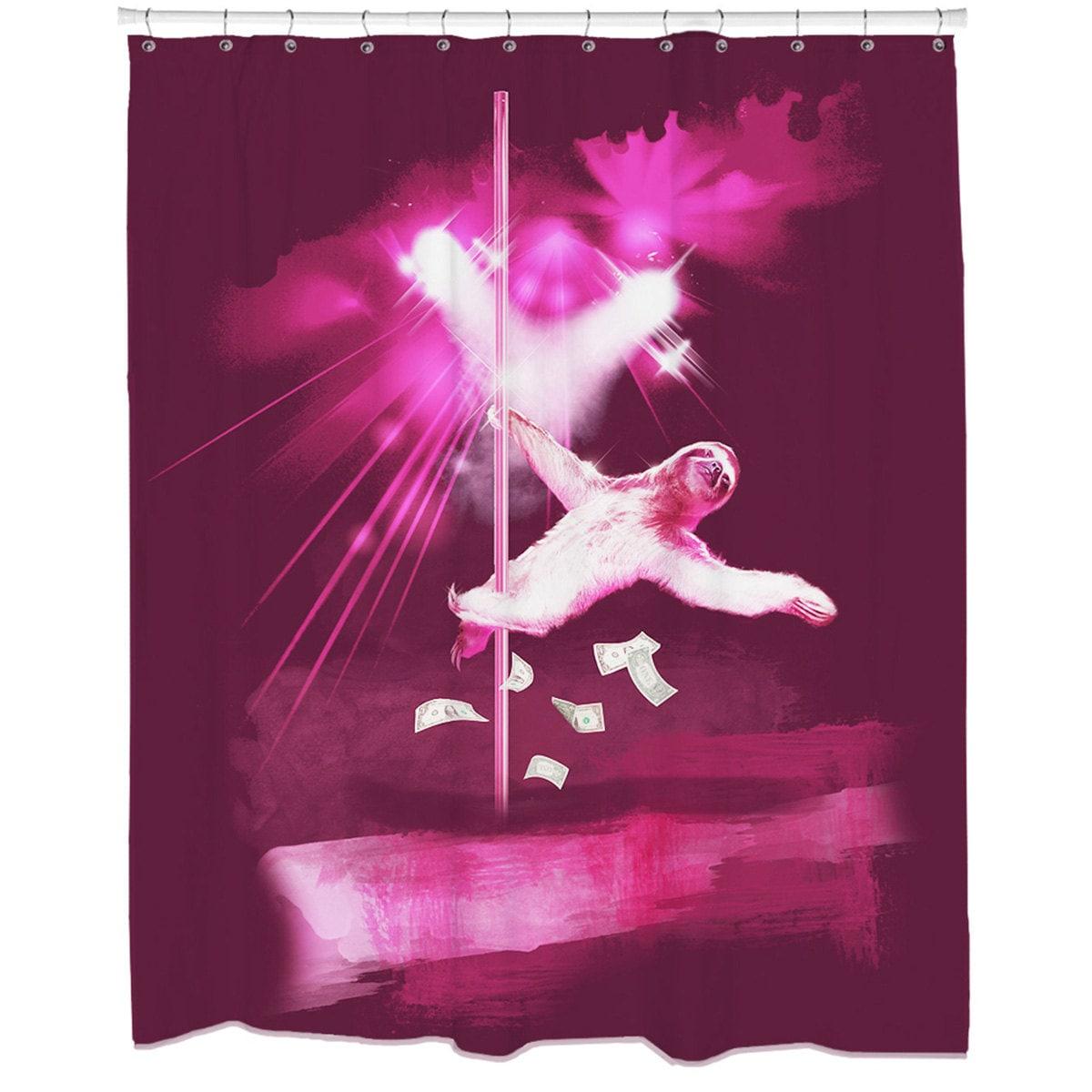 Sexy Shower Curtain Sloth Funny Bathroom