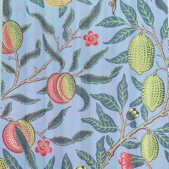 Nature Decor Best Selling Curtain Boho Chic Decor Tropical Window Curtains Blue Fabric Curtain Jungle Art Melon Drapes Fruit Pattern