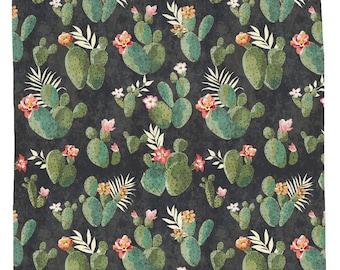 Cactus Shower Curtain, Western Bathroom Decor, Boho Shower Curtain, Floral Shower Decor, Desert Theme Bathroom Decor