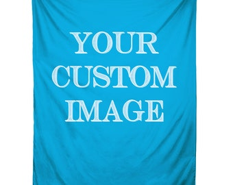 Custom Wall Tapestry, Custom Backdrop, Custom Wedding Tapestry, Personalized Image, Custom Image, Made to Order, Full Color, Printed in USA