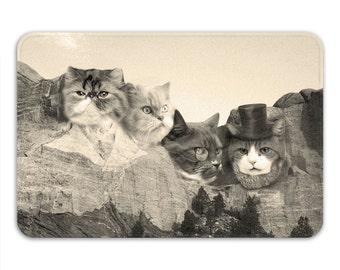 Funny Bath Mats, Cat Bath Mat, Non Slip Shower Mat Cat, Cat Home Decor, Funny Cat Gifts, Cat Presidents Mat, Cat Lover Gifts Funny