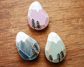Faceted Mountain Bead Pick One