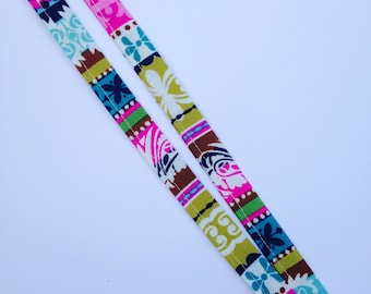 Eclectic Multicolored Striped Lanyard