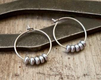 Titanium Hoops - Hypoallergenic Earrings - Hoop Earrings - Hypoallergenic Hoops - Handmade Jewelry - Gift for Her - Silver Earrings