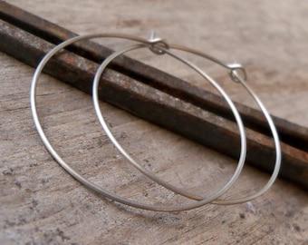 Hoop Earrings - Pure Titanium - Hypoallergenic Hoops - Titanium Earrings - Multiple sizes - Silver Hoops - Earrings for Sensitive Ears